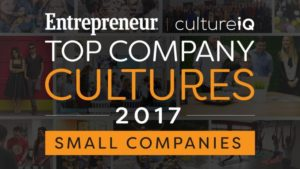 Entrepreneur top company cultures graphic