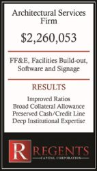 Architectural services financing graphic