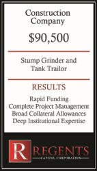 Construction company financing options graphic