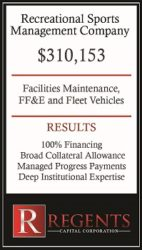 Recreational sports financing graphic