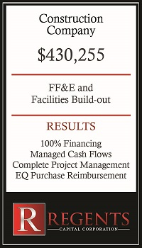 Construction company equipment lease financing graphic