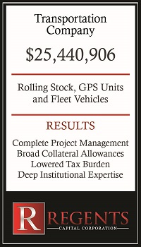 Transportation company heavy equipment financing graphic