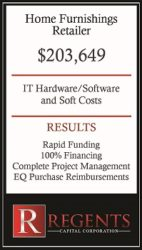 Home furnishings business funding solutions graphic