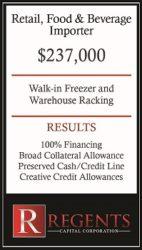 Food and beverage importer financing