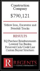 Construction company financing graphic