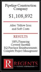 pipeline construction equipment financing