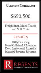 Concrete contractor financing graphic